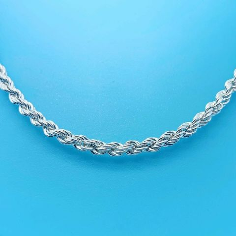 Genuine Hallmarked 925 Sterling Silver Lite Rope Chain In Different Lengths